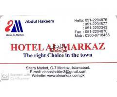 Hotel Al Markaz Family Residence in Sitara Market Islamabad