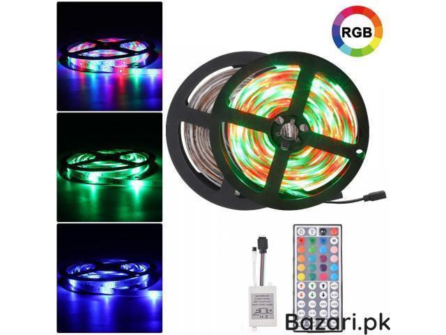 RGB LED Strip Light 3528  44 Key RGB Remote Controller Flexible LED Tape Neon Ribbon - 1