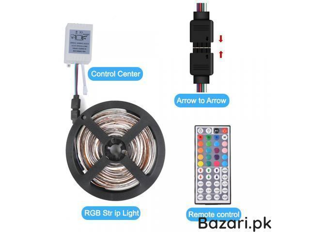 RGB LED Strip Light 3528  44 Key RGB Remote Controller Flexible LED Tape Neon Ribbon - 2