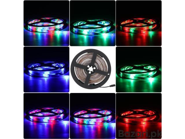 RGB LED Strip Light 3528  44 Key RGB Remote Controller Flexible LED Tape Neon Ribbon - 3