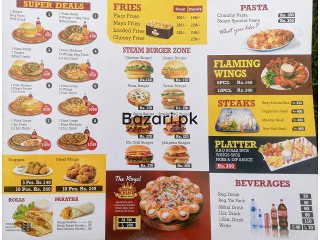 Steam Cafe Pizza Steaks Platter in Burewala - 1